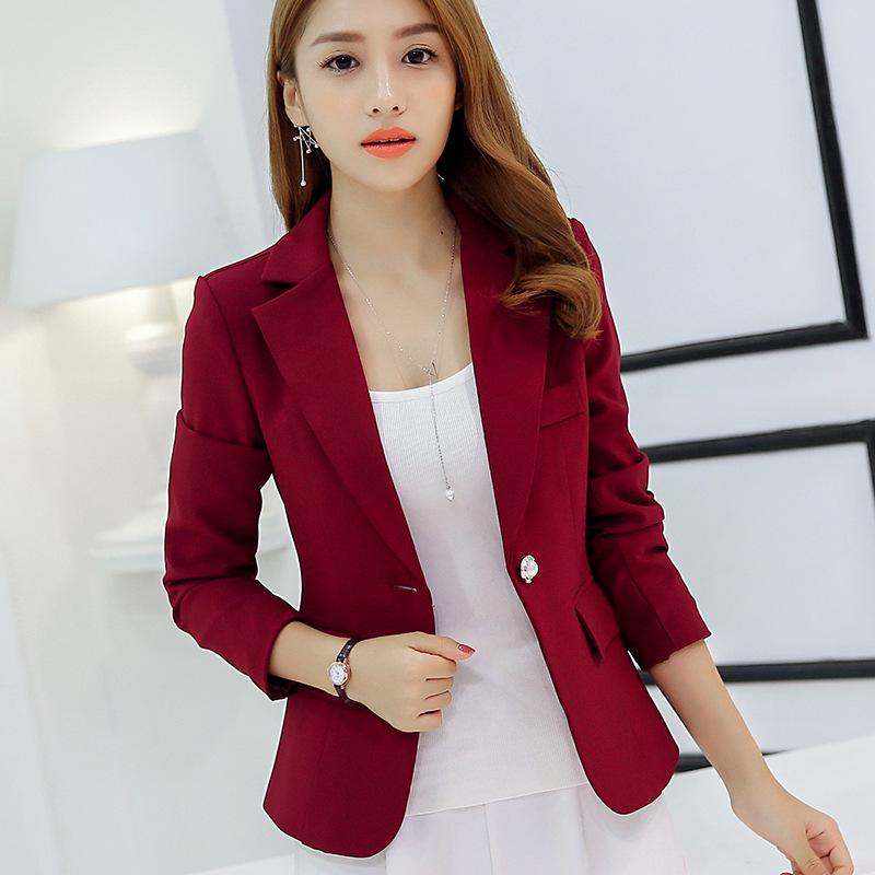 2019 Women Suit Jackets Work Office Outwear Top Blazer Summer Short Design  Long Sleeve Blazer Feminino Wine Red Navy Blue Gray From Keviny, $26.56 |  DHgate.
