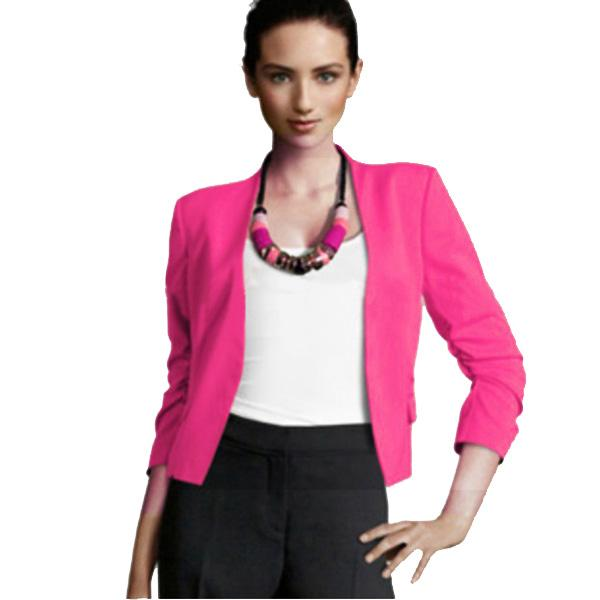 Women Slim Puff Sleeve Buttonless Short Blazer Suit Jacket Coat Lady Blazers  Coat of Arms China Jacket Microfiber Coat White Online with $34.36/Piece on