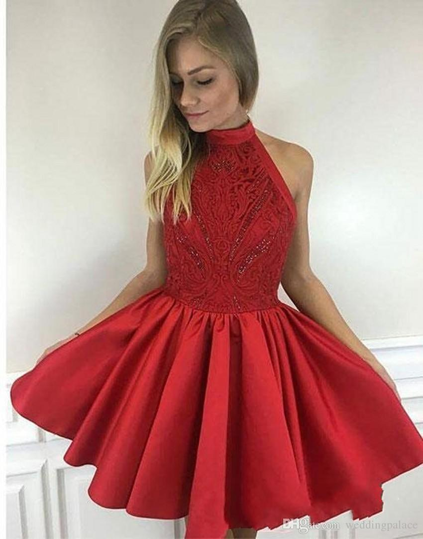 DESCRIPTION. Newest Cute Mini Short Red Homecoming Dresses