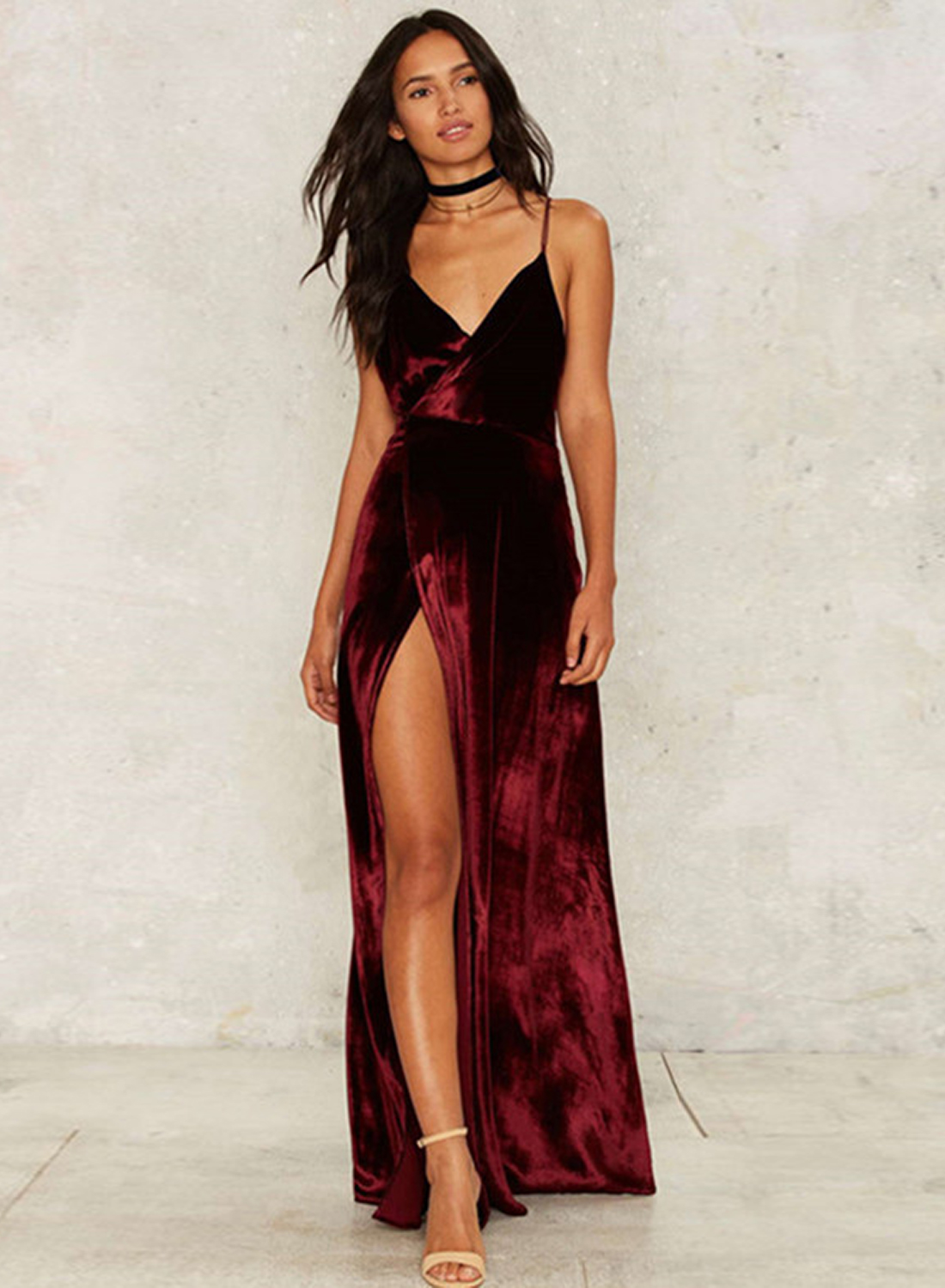 Fashion Spaghetti Strap Sleeveless Slit Maxi Dress Traveller Location. Loading  zoom. Fashion Spaghetti Strap Sleeveless Slit Maxi Dress