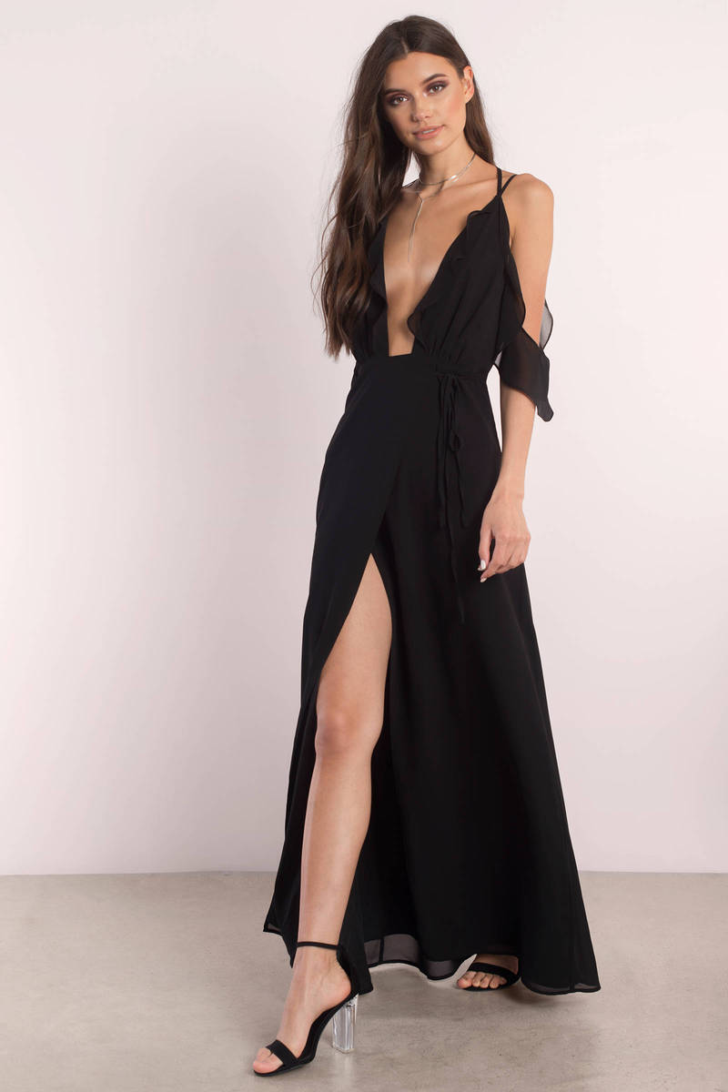 Be Seen Black Maxi Dress