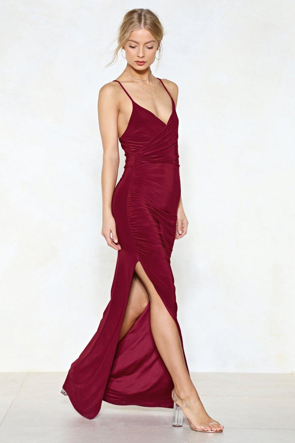 Slit or Miss Maxi Dress