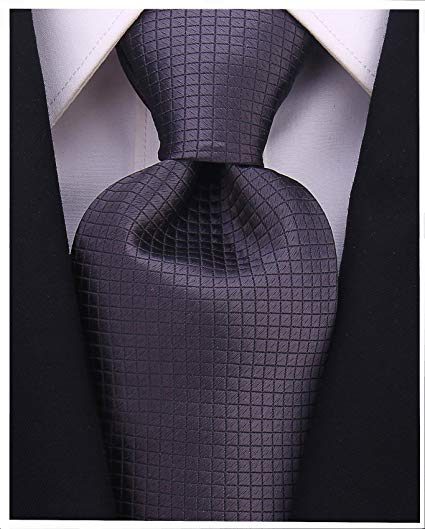 Solid Ties for Men - Woven Necktie - Mens Ties Neck Tie by Scott