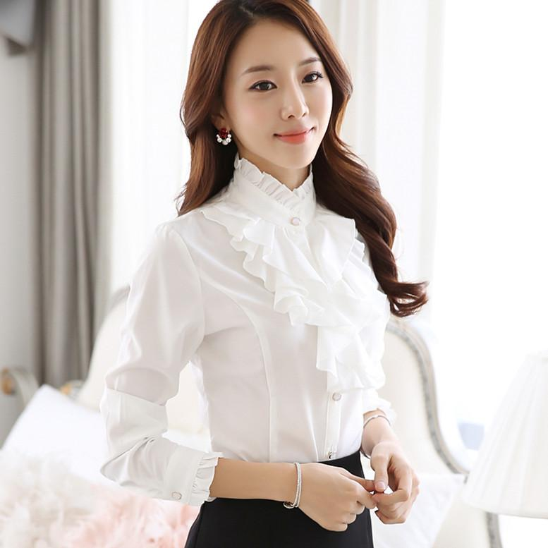 Tops with blouse collar