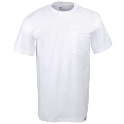 Dickies Mens 1144624WH Two Pack Cotton T-Shirt- White