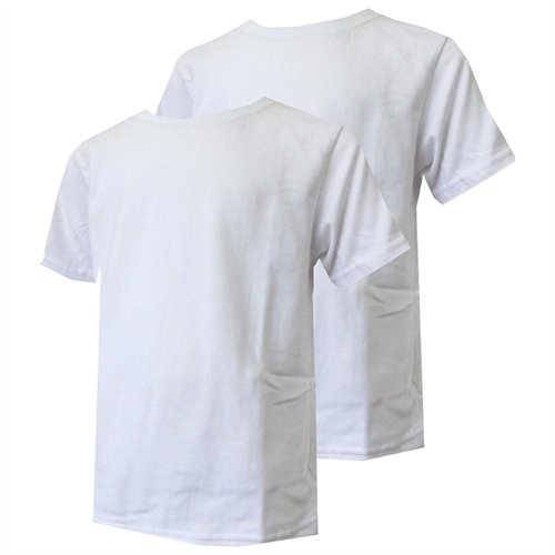 Calvin Klein Boys White 2 Pack Crew Neck T Shirts, $9 | buy.com