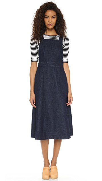 Free People Indigo Denim Apron Dress | SHOPBOP