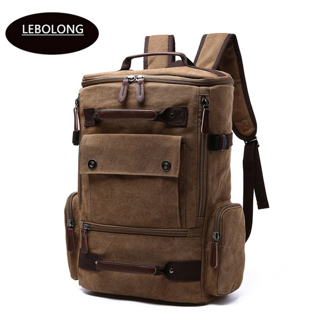 2019 New Backpack Men Canvas Backpack Large Capacity Bag for Travel