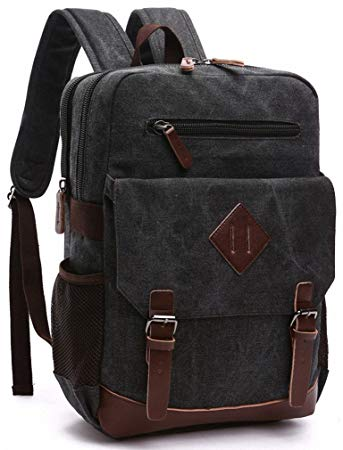 Amazon.com: Kenox Mens Large Vintage Canvas Backpack School Laptop