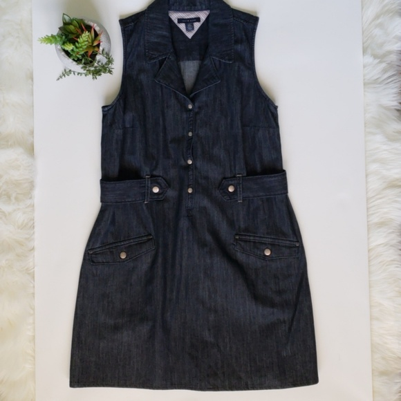 Tommy Hilfiger Dresses | Beautiful Jean Dress Size L | Poshmark
