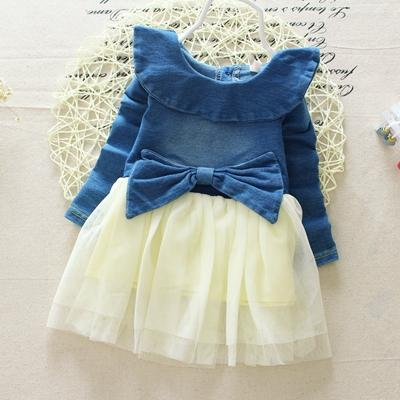 2019 Girl Summer Denim Dress For Kids Jeans Tutu Dresses Cute