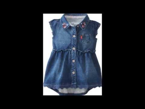 top beautiful jeans dresses for kids 2017 - YouTube