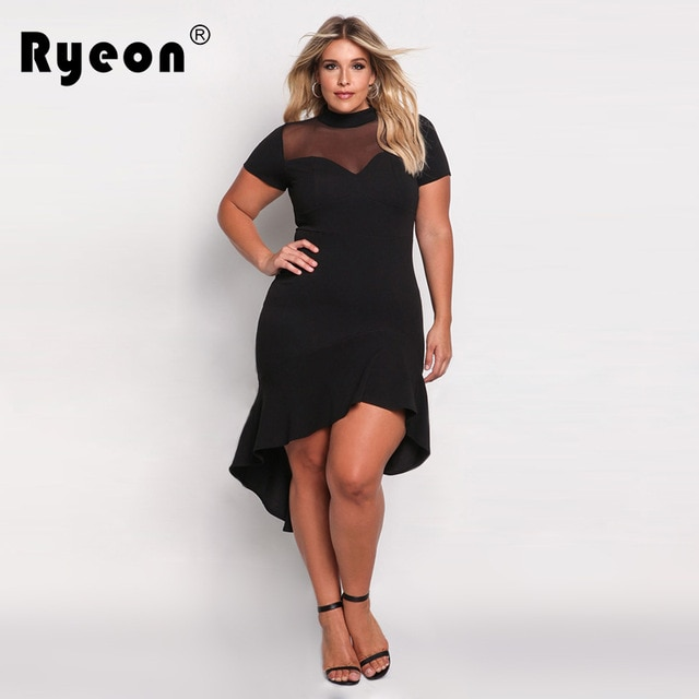 Ryeon Bodycon Dresses Big Sizes 2017 Summer Party Sexy Tunic Women