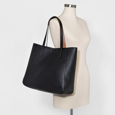 Small Reversible Tote Handbag - A New Day™ Black : Target