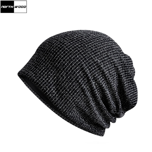 Aliexpress.com : Buy [NORTHWOOD] Unisex Lattice Black Beanie Hat For