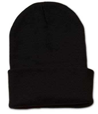 TOP HEADWEAR Long Cuff Beanie Cap, Black at Amazon Men's Clothing