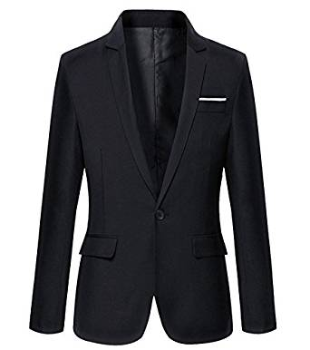 Mens Slim Fit Casual One Button Blazer Jacket at Amazon Men's