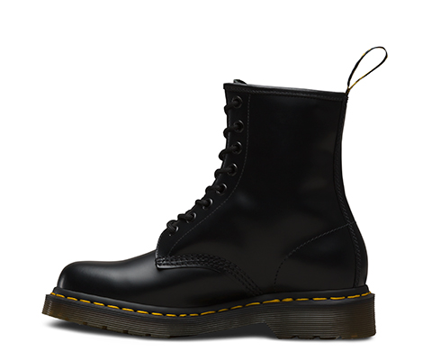 WOMEN'S 1460 SMOOTH | Black and White Shoes & Boots | Dr. Martens