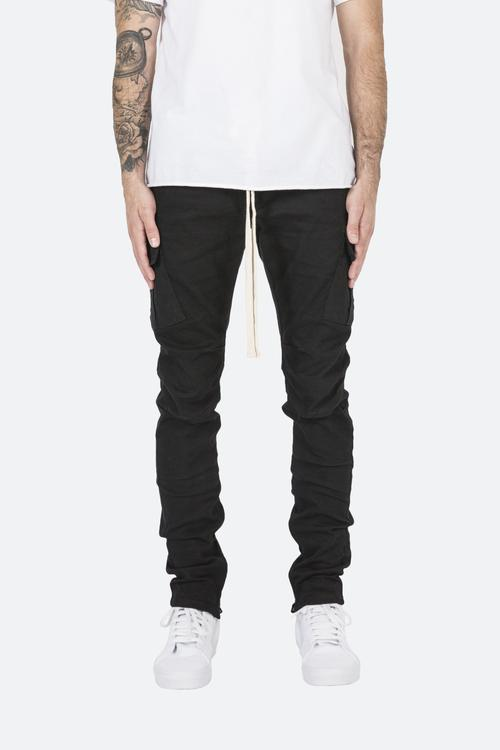 Cargo Drawcord Pants - Black | mnml | shop now