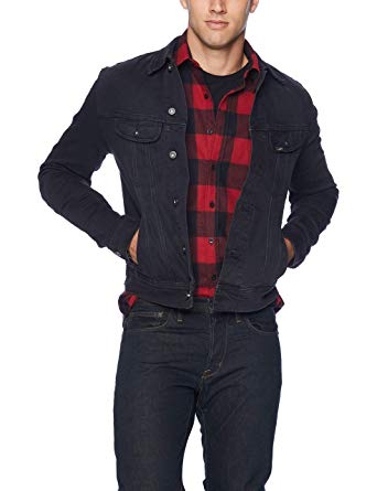 Lee Men's Denim Jacket at Amazon Men's Clothing store: Blue Jean Jacket