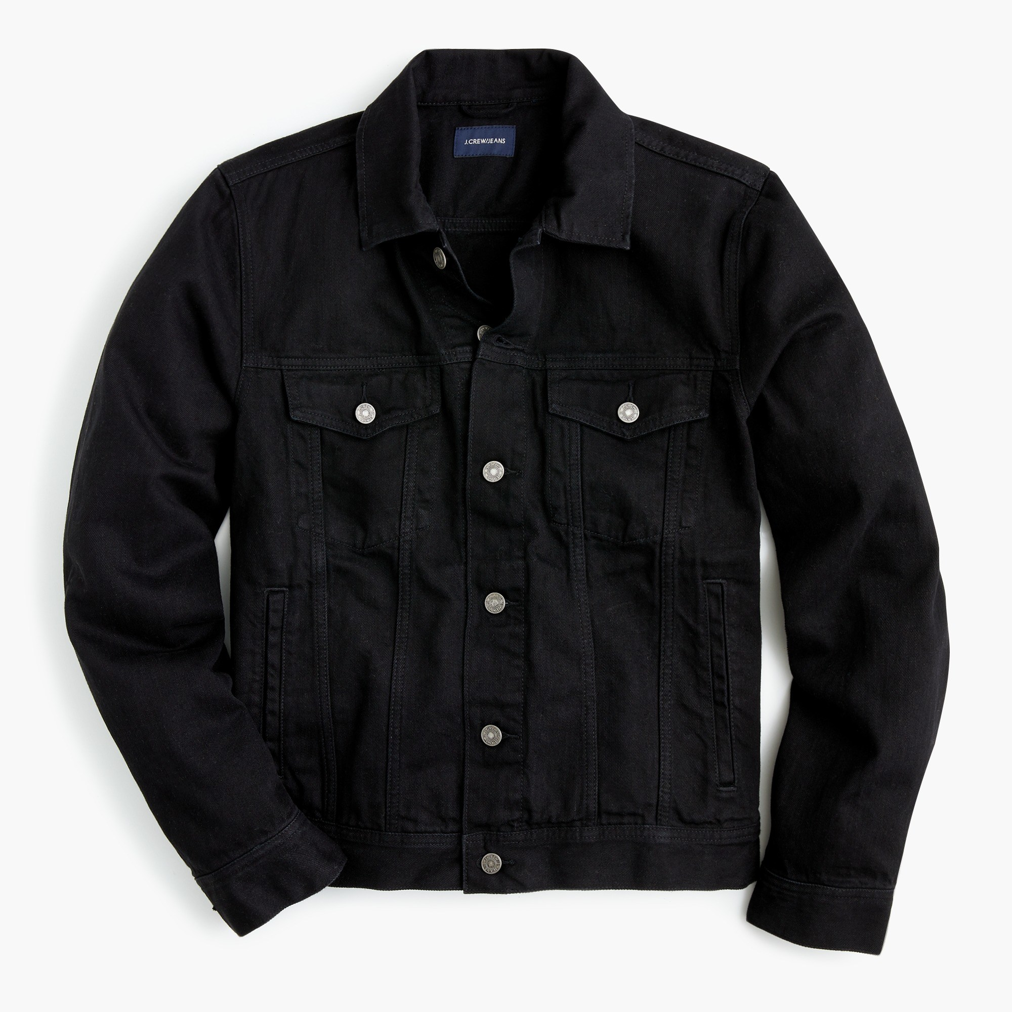 Denim jacket in washed black - Men's Outerwear | J.Crew