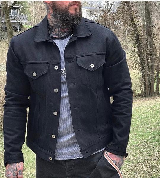 THE 30-30: SELVEDGE BLACK DENIM JACKET u2013 Grifter Company