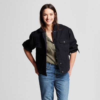 Women's Denim Jacket - Universal Thread™ Black Wash : Target