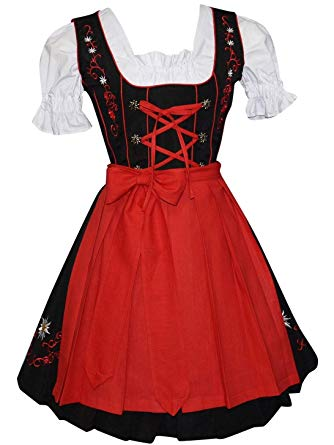 Amazon.com: Edelweiss Creek 3 Piece German Oktoberfest Dirndl Dress