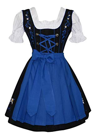 Amazon.com: Edelweiss Creek 3-Piece German Oktoberfest Dirndl Dress