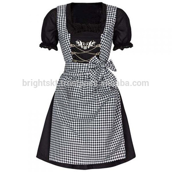 Sexy Black Traditional German Dirndl Trachten Bavarian Dirndl For