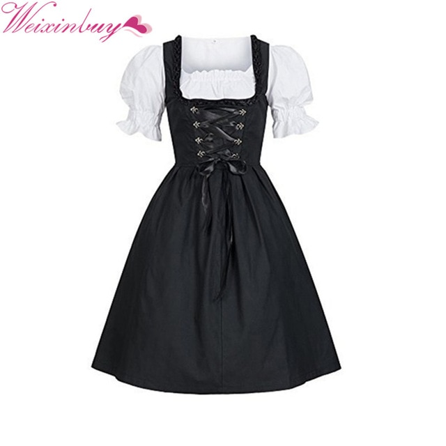 Perfect to combine: Black Dirndl