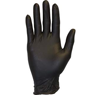 Amazon.com: Black Nitrile Exam Gloves - Medical Grade, Disposable