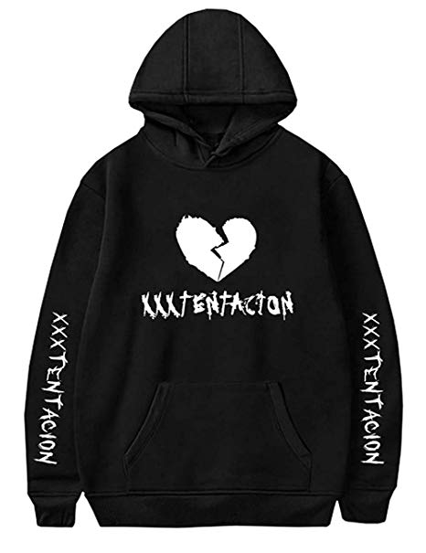 Amazon.com: Detroital Unisex Hoodie Xxxtentacion Sad Heart Cool Rap