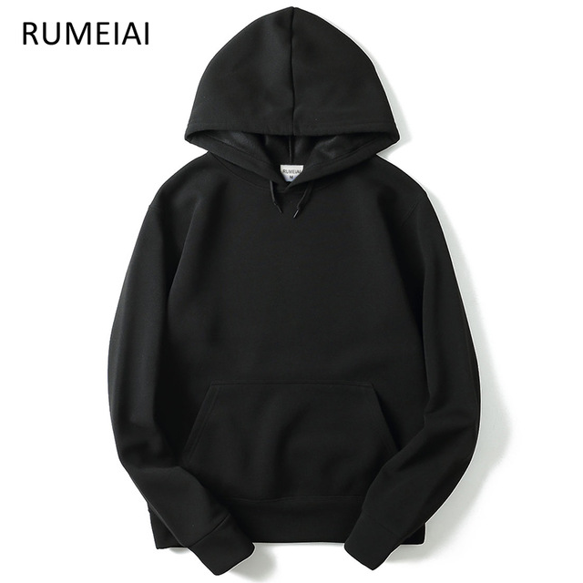 RUMEIAI 2019 New brand Hoodie Streetwear Hip Hop red Black gray pink
