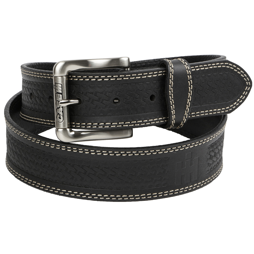 Farmall Men's Black Leather Belt