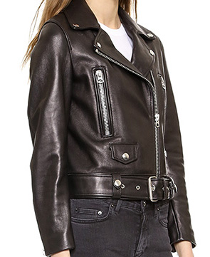 Women's leather moto jackets, black leather jacket in LeatherSketch USA