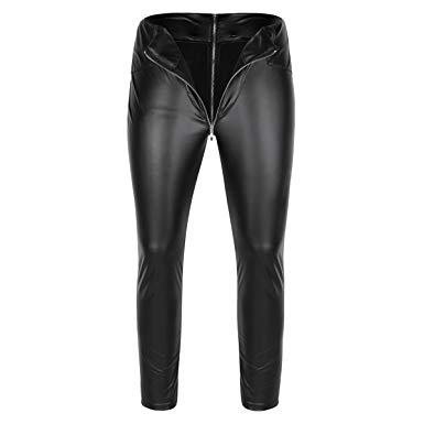 Amazon.com: YiZYiF Men's Faux Leather Wetlook Tight Pants Leggings