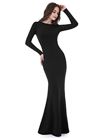 Amazon.com: Sarahbridal Women's Long Sleeve Prom Dresses Mermaid