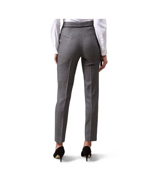 Hobbs Grey 'marlene' Trousers in Gray - Lyst