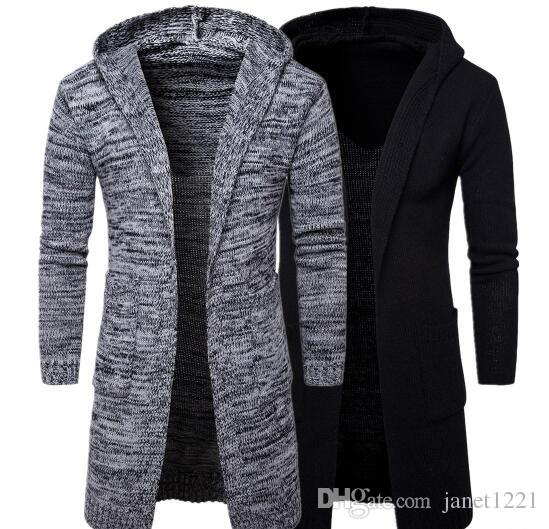 2019 Autumn Winter Loose Long Mens Cardigans Sweaters New Fashion