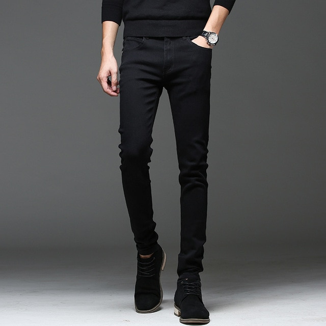 New 2018 Black Men Jeans Korean Style Fashion Mens Skinny Jeans