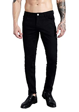 ZLZ Men's Slim Fit Stretch Comfy Fashion Denim Jeans Pants at Amazon