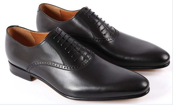 HANDMADE MEN BLACK GENUINE LEATHER SHOES, MENS BLACK DRESS SHOES