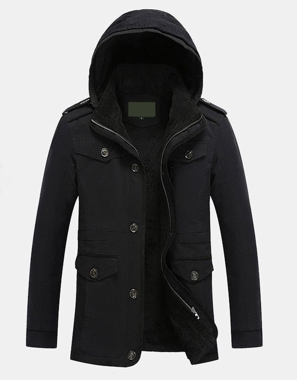Mens Hooded Winter Coat | Things to Wear | Hooded winter coat, Mens