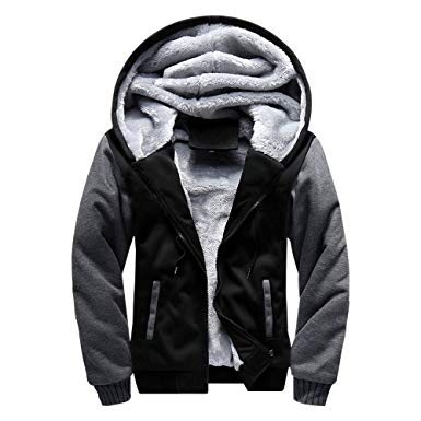 LBL ASALI Men's Pullover Winter Jackets Hooed Fleece Hoodies