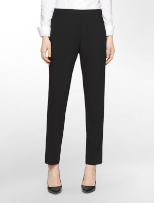 straight fit highline black pants | Calvin Klein