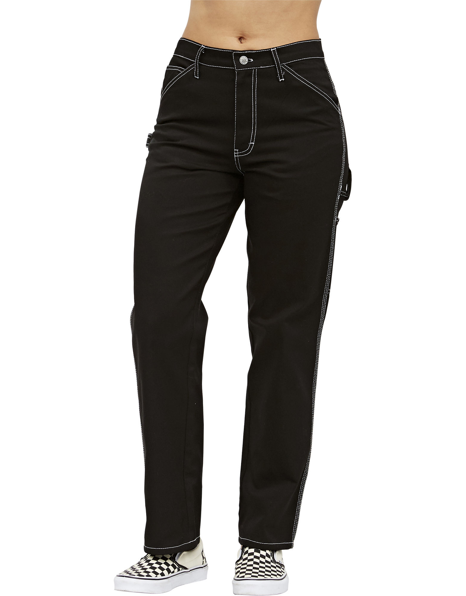 Dickies Girl Relaxed Fit Carpenter Pant Black 7| Dickies