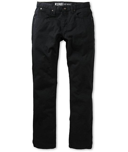 Free World Messenger 5 Pocket Twill Black Pants | Zumiez