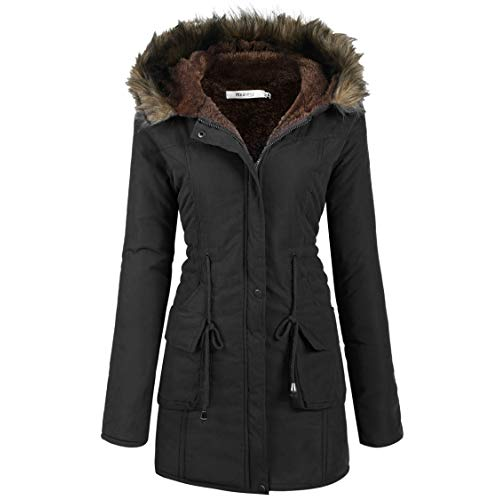 Women's Black Parka: Amazon.com