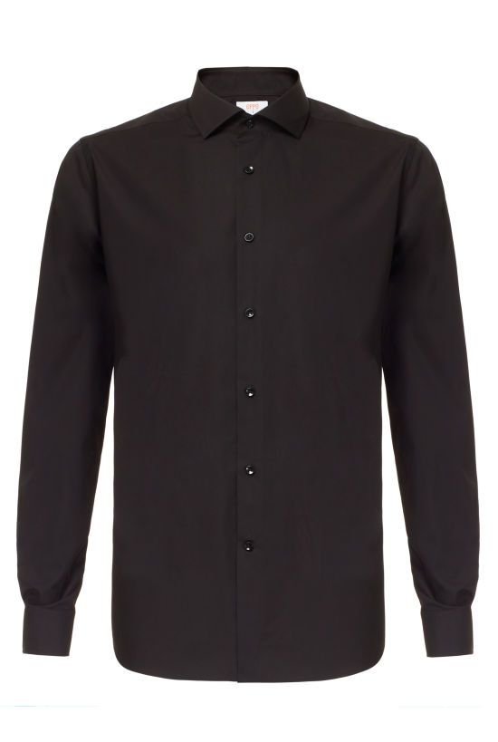 Black Dress Shirt | Mens All Black Dress Shirt | OppoSuits